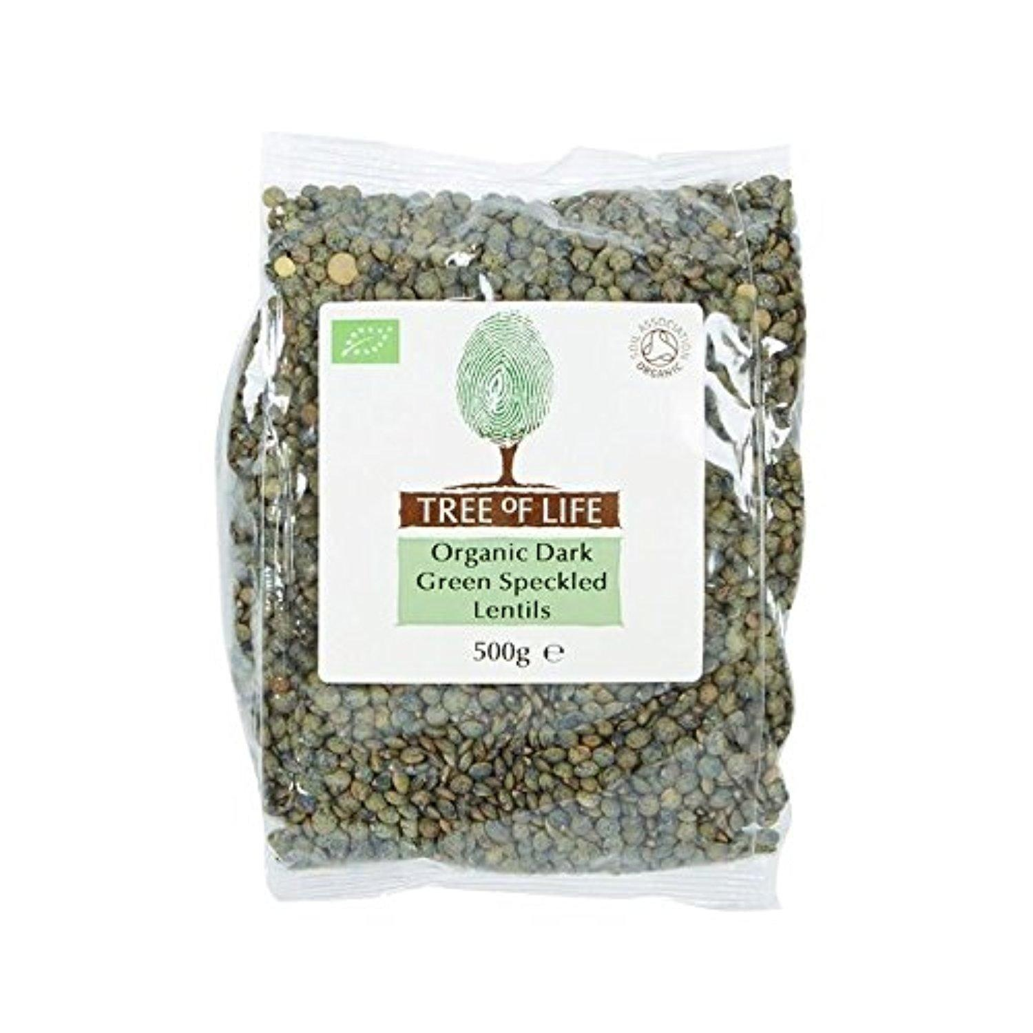 Tree of Life Organic Dark Green Speckled Lentils 500g - Pack of 2