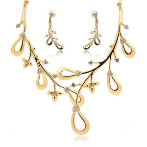 Crystal Fujiki Jewelry Set Wedding Accessories Wedding jewelry Earrings + necklace