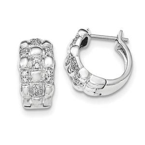 .925 Sterling Silver 19 MM Patterned Hoop Earrings