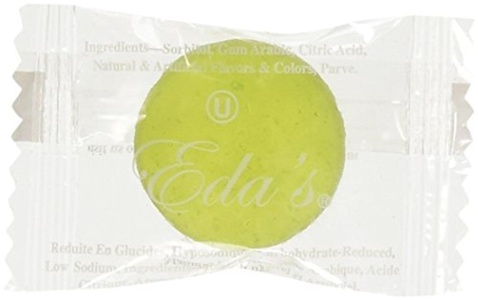 eda's Sugar Free Intense Lemon-Lime Hard Candy, ONE POUND, individually wrapped, OU Parve, Uses Sorbitol, Low Sodium by Eda's Sugar Free