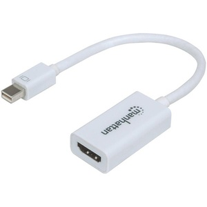 MANHATTAN 151399 MHC Mini DisplayPort to HDMI Adapter Cable 15cm (White) Consumer electronics