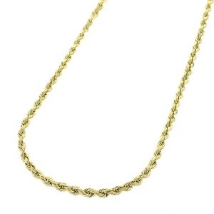 14k Yellow Gold Mens Womens 1.5mm Solid Rope Cable Chain Necklace 16