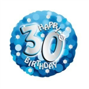 FOIL BALLOON AGE 30th BIRTHDAY-HOLOGRAPHIC-18-BLUE by FOIL BALLOON AGE 30th BIRTHDAY-HOLOGRAPHIC-18-BLUE