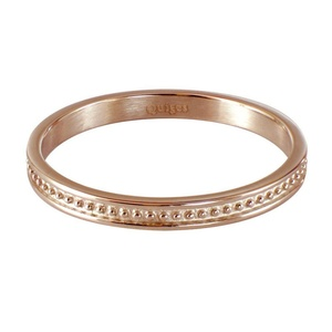 Quiges - Stainless Steel Rose Gold Stacking Ring Slide-On Ring 2mm Height (different Ring sizes)