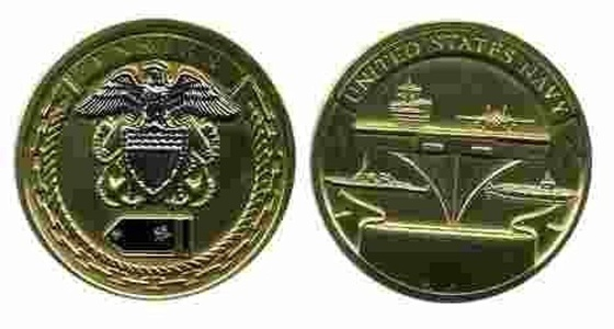 Navy Ensign Rank Challenge Coin by Military Productions