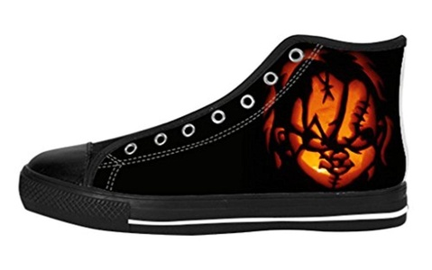 Women's High Top Full Canvas Upper Shoes Soft Inner Horrific Chucky Design