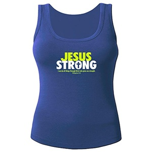 Jesus Strong for Women Printed Tanks Tops Sleeveless T-shirt