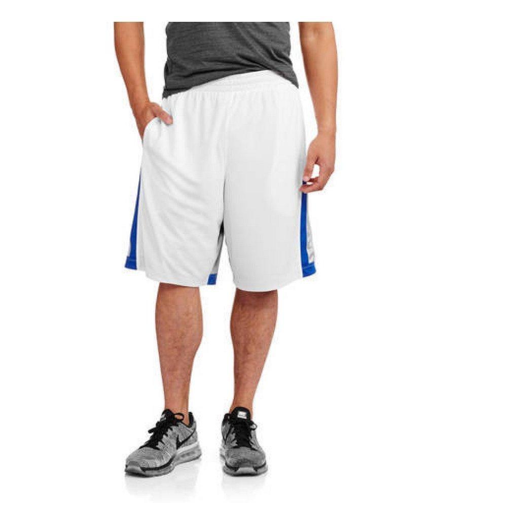 Starter Men's Reversible Mesh Athletic Basketball Shorts (X-Large, White/Blue)