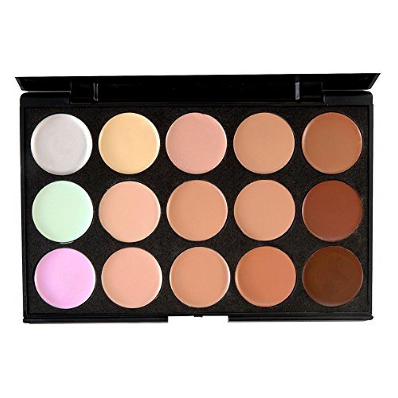 Salon/Party Contour Face Cream Makeup Concealer Palette 15 Colors by ZSL