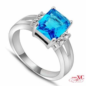 Cherryn Jewelry Size 6/7/8/9/10Jewelry Wedding Finger Ring LWomen Men anel Zircon 10KT White Gold Filled Ring RW0793