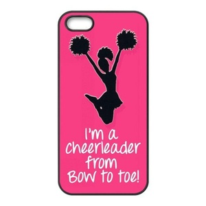 HuangHou ,iPhone 5/5s Case,Custom Protect Slim Fit Hard Rubber Case Cover for iPhone 5s I am a Cheerleader Design