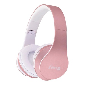 Bluetooth Wireless Over-ear Stereo Headphones, Fetta 4 in 1 Upgrade Bluetooth Foldable Headsets with Micro Support SD/TF Card for iPhone 7plus iPad, Samsung Galaxy (Upgrade Rose Gold)