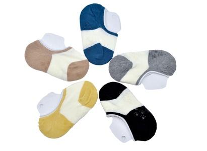 Petescilla Unisex-Baby Loafer Socks Non-Slip 5-Pack
