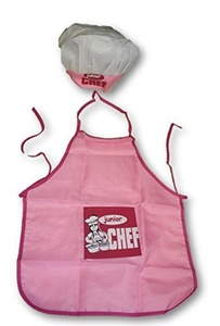 Junior Chef Hat and Apron Combo ~ Aspiring Chef's Need Fancy Clothes! by Junior Chef Hat and Apron Set