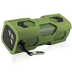 Bluetooth Speaker, IPUTY Waterproof Sports Speaker, Portable Wireless Bluetooth Speaker Bass Subwoofer Sound Speaker Bluetooth Speakers 4.0 with NFC Built-in Microphone(Green)