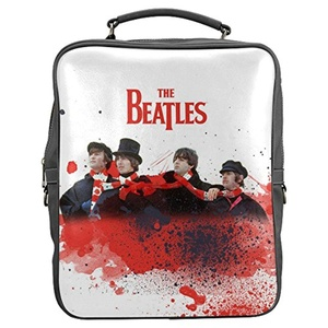 Deanna Kegley Custom Beatles Band Unisex Casual PU Leather Square Backpack