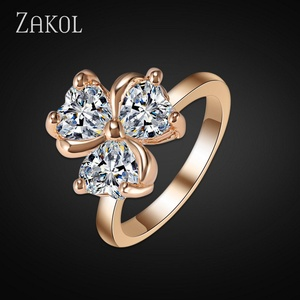 Nachonia Jewelry Fashion Ring Gold Plated Cubic Zirconia Ring for FSRP030