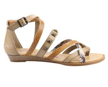 Blowfish Blaw Bark Dye/Nat Chopped/Grey Womens Ankle Strap Sandal Size 11M