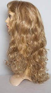 22 Ladies Full Length Long WIG Clip In Hair Piece CURLY Blonde Mix #18/613 by Elegant Hair