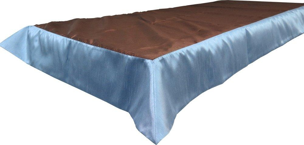 Snap Drape OVROY4284BRN/SLT Tablecloth, Fits 6' x 30