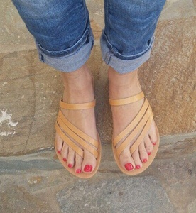 Slip On Greek Leather Sandals