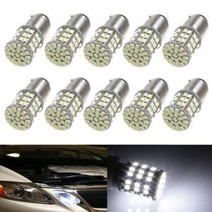 XT AUTO 10x 12V 1157 BAY15D 1154 2057 2357 2397 64 SMD White LED Car Tail Stop Brake Parking Light Bulbs