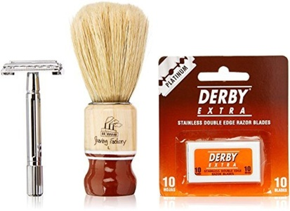 Shaving Factory Hand Made Square Neck Brush for Barbers and Hair Salons - SF964 by Shaving Factory