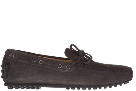 Car Shoe men's suede loafers moccasins grey US size 8 KUD600 LVA F0207