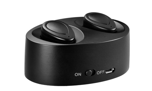 True Wireless Earbuds,Lesoom Mini Twins Truly Wireless Bluetooth Sports Headphone Noise Cancelling Stereo Earphone With Mic For Samsung iPhone 7 Plus Sony Apple iPad Android IOS