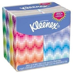 Kleenex 3-Ply Pocket Packs Facial Tissues (64 packs of 10 tissues) by Kleenex