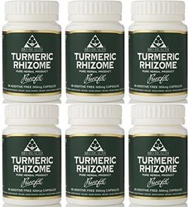 (6 PACK) - Bio Health - Turmeric Rhizome | 60's | 6 PACK BUNDLE by Bio-health