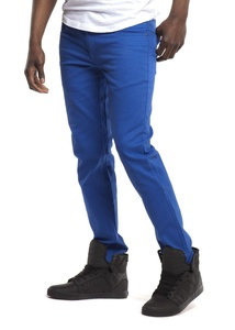 Royal Blue Men's Colored Skinny Stretch Twill Jean Pant-Royal-40/32