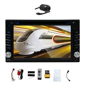EinCar GPS Navigation 6.2'' inch TFT Touch Screen Double 2 Din in Dash Car DVD GPS Player Autoradio Stereo FM/AM Radio Video Audio Head Unit Bluetooth/SD/USB/Navi/Rear View Camera