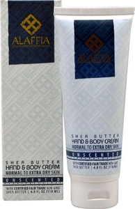 Alaffia Shea Butter Hand & Body Cream Unscented -- 4 oz