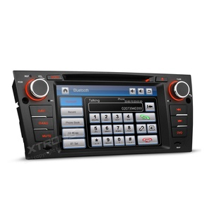 XTRONS 7 Inch HD Digital Touch Screen Car Stereo Radio In-Dash DVD Player with GPS Navigation CANbus Screen Mirroring Function for BMW 3 Series