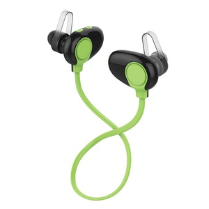 Baaaq Bluetooth 4.0 Headphones Wireless Stereo In-Ear Noise Cancelling Headset Hands-Free Running Earphone (LB3 Green)
