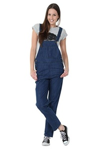 Womens Denim Overalls Mid-Stonewash Cheap dungarees - Value Overalls
