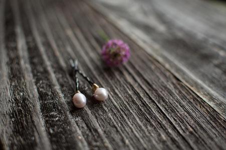 Pink Bobby Pins Freshwater Pearl Pink Hair Pins Decorative Bobby Pins Wedding Bridal Hair Pins