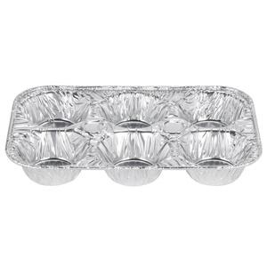 D&W Fine Pack E14 6 Cavity Foil Muffin Pan - 25/Pack