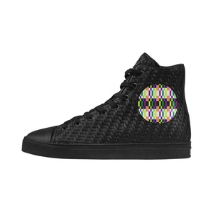 Shoes No.1 Sneakers Fitness Woven Women's Shoes PU Leather Colorful Geometry For Outdoor