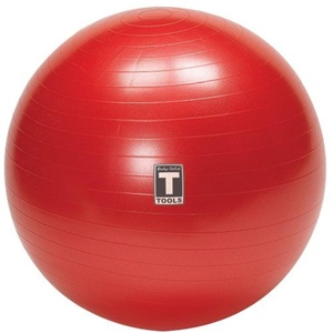 Body-Solid 65cm Anti Burst Gym Ball (Red) by Body Solid