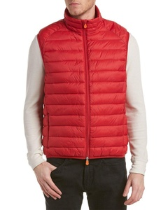 Save The Duck Mens Giga Puffer Vest, L, Red