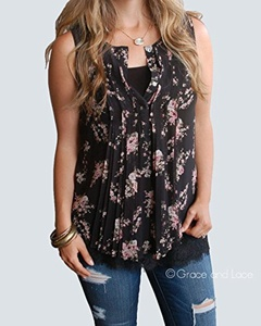 Grace & Lace Tassel Trim Tunic