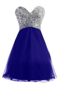 Gorgeous Bridal Empire Sweetheart Rhinestone Long Prom Evening Party Dresses- US Size 4