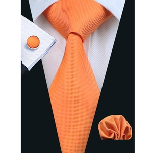 Hi-Tie Orange Silk Ties for Men Set