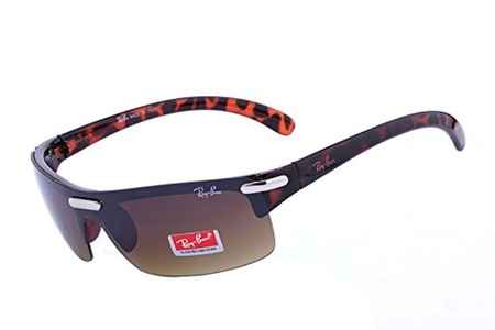 Classic fashion sunglasses Active Lifestyle Semi-Rimless RB4085 Brown Leopard Sunglasses BDM