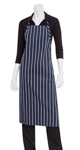 Chef Works A100-NCS English Chef Apron, Navy Chalk Stripe by Chef Works