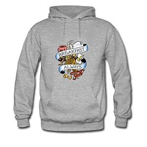 Eat_Hardy For women Printed Sweatshirt Pullover Hoody