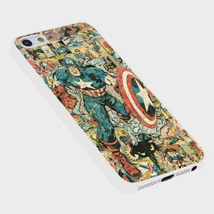 Captain america comic book For Iphone Case (iPhone 6 plus white)