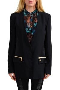 Versace Jeans Black One Button Women's Blazer US 10 IT 46;